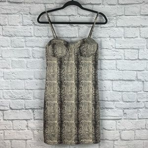 Windsor Snakeskin Print Bustier Bodycon Dress L